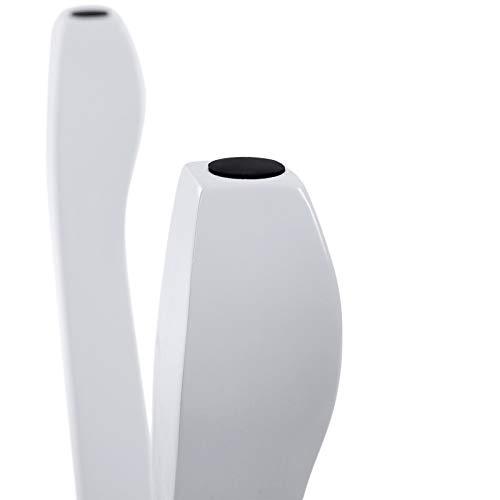 SONGMICS RDS50W - Taburete Tapizado para Tocador de Madera, Blanco