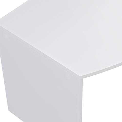 Marca Amazon -Movian Belaya Modern - Escritorio curvo, 80 x 160 x 75 cm (blanco)