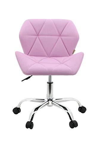 HNNHOME® - Moderna silla de escritorio con diseño Eris - Silla acolchada y giratoria de tela, para oficina, regulable en altura