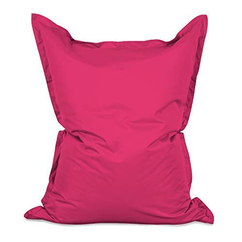 Lumaland PUF otomano Puff XXL 140 x 180 cm 380l con Relleno Innovador Maxi Puff Interior Exterior Rosa Pink