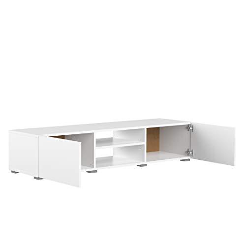 Movian Lijoki - Mueble para TV, 140 x 42 x 31cm (largo x ancho x alto), blanco