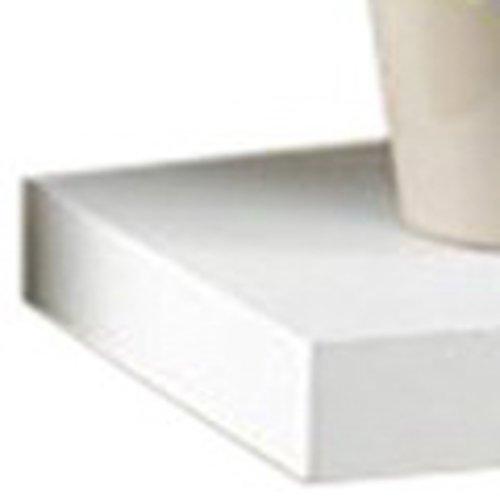 Modul'Home 6RAN791BC - Estantería para colgar, tablero/madera DM, blanco, 50 x 22,8 x 3,4 cm