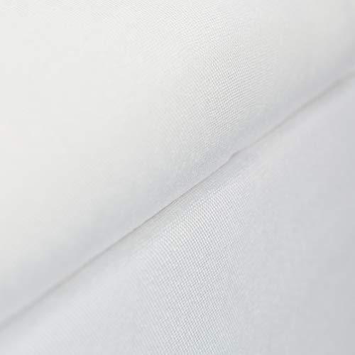 Relaxdays Baúl Almacenamiento con Patas, Banco Almacenaje, Puff, Tela-Madera-DM, 1 Ud, 39,5 x 79,5 x 39,5 cm, Blanco, 39.5 x 79.5 x 39.5 cm