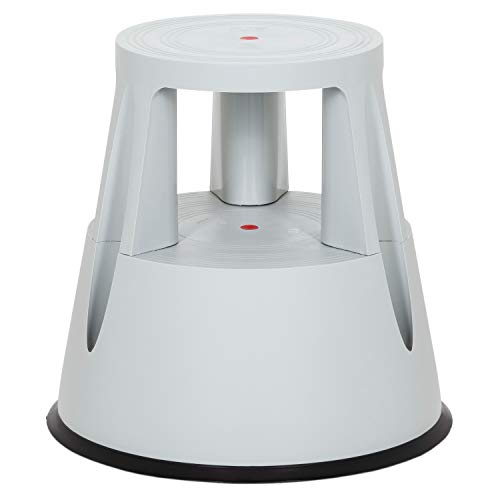 hjh OFFICE 830002 taburete escalera TIO-M I plástico gris claro taburete con ruedas cocina hogar oficina