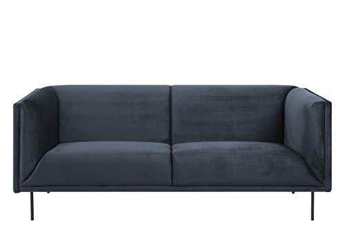 Amazon Brand - Movian Ola - Sofá de 3 plazas, 88 x 200 x 79 cm (largo x ancho x alto), azul oscuro