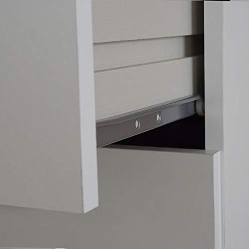 Sinfonier 6 cajones Teb habitacion Juvenil Dormitorio Matrimonio Moderno Color Blanco 110x40x40 cm (Blanco)