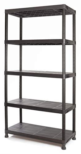 Tayg Kit estantería plástico 945, negro, 900 x 400 x 1800 mm
