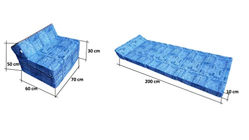 Natalia Spzoo Colchón plegable, cama de invitados, colchón de espuma 200x70 cm (009)