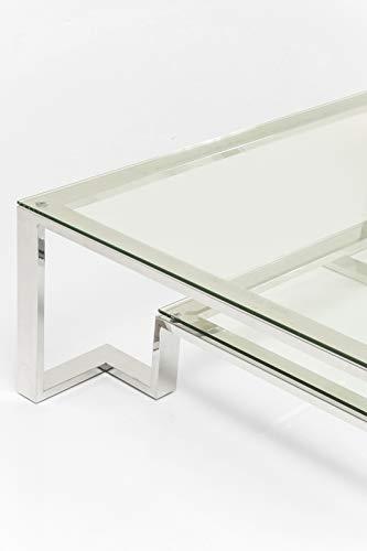 KARE Silver Rush - Mesa de Centro, 120 x 120 cm, Plateado