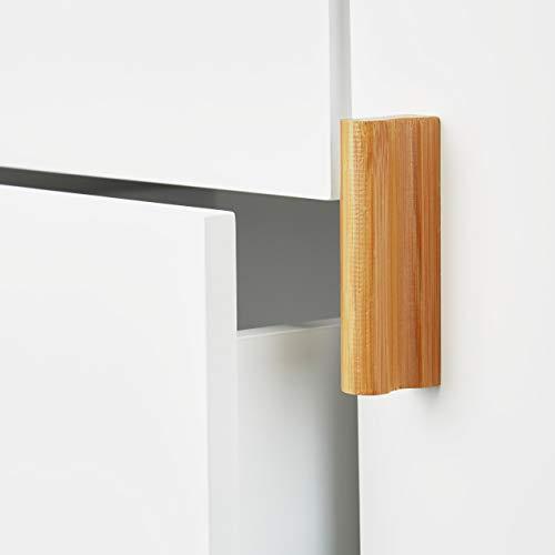Relaxdays Cómoda nórdica, Diseño Moderno, Dos cajones, Blanco, 70 x 100 x 47 cm, Madera