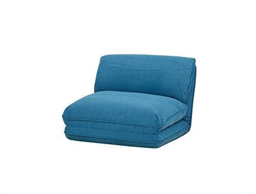 AmazonBasics - Sofá cama, 78 x 82 x 58, azul