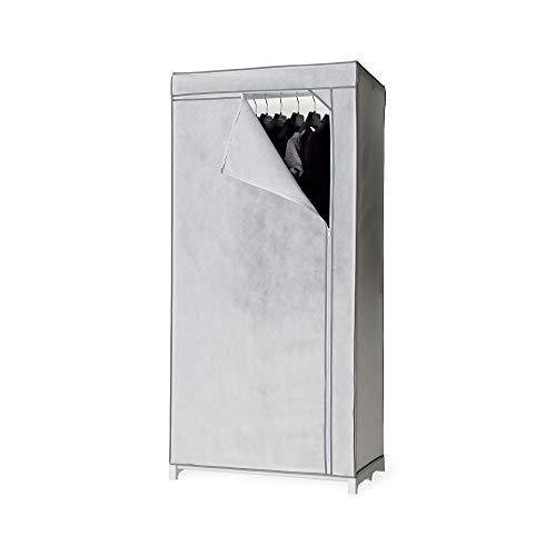 Compactor Madison Organizador de ropa para colgar, 6 Compartimentos, Polipropileno, Gris/Blanco, 30 x 30 x 128 cm, Código del producto RAN7471