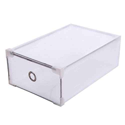 Yonntech 20pcs Cajas de Zapatos Plegables de Plástico Cajas Almacenaje plegable de plástico Cajón Organizador Transparente envase de la caja para zapatos Apilable Plegable Contenedor