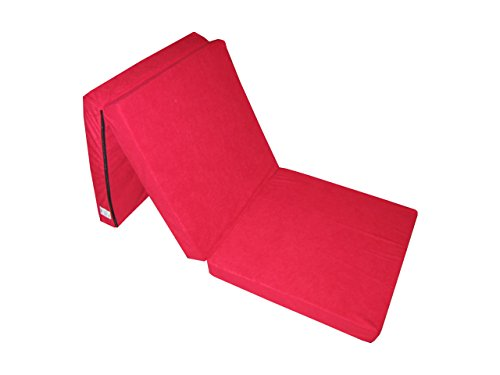 Natalia Spzoo Natalia Spzoo Cama de invitados, colchón plegable 195 x 65 x 8 cm (Rojo)