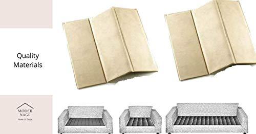 Modernage Rejuvenecedor de asiento de sofá, tabla fuerte 1-2-3, soporte de asiento caído, sillón, fijador de cojín de asiento Soggy, protector de tapicería supersólido