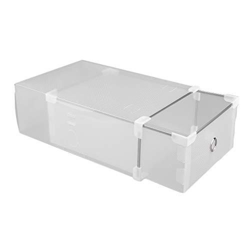 Homgrace 24 Cajas de Zapatos de Plástico Transparente Apilable Zapatero Cajas de Almacenaje Cajón Organizador 31 x 20 x 11 CM