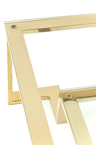 Kare 82127 - Mesa Centro Rush Oro 120 x 120 cm, Plateado