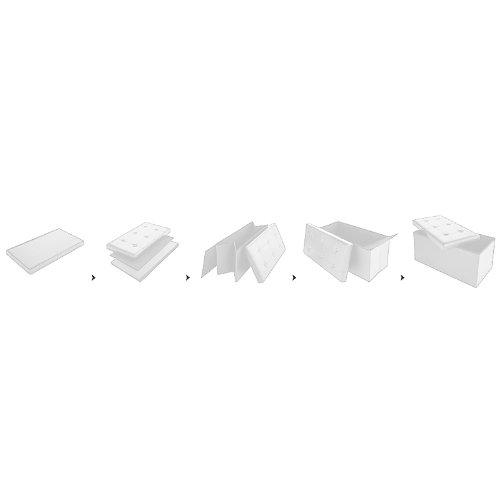 Deuba Baul reposapiés | Plegable | Puff de Almacenamiento | Color Blanco