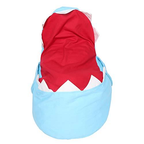 Tnfeeon Bolsa de Frijoles Grande Silla rellena Apariencia de tiburón Juguetes Organizador de Almacenamiento de Juguetes Blandos Peluches Organizador de Puff Gigante(Azul)