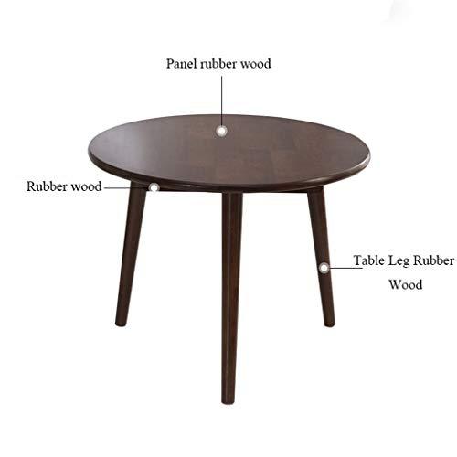 Mesa de centro de madera Mesa redonda pequeña, Mesa de centro redonda de tres patas, Mesa de centro para apartamentos pequeños Mesa de centro redonda, Adecuado para sala de estar, dormitorio, estudio,