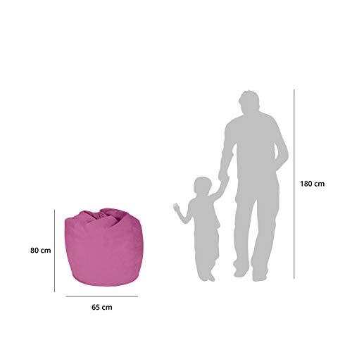 Lumaland Beanbag PUF otomano Puff XL Plus Comfortline 220 lt Relleno Costura Reforzada Rosa