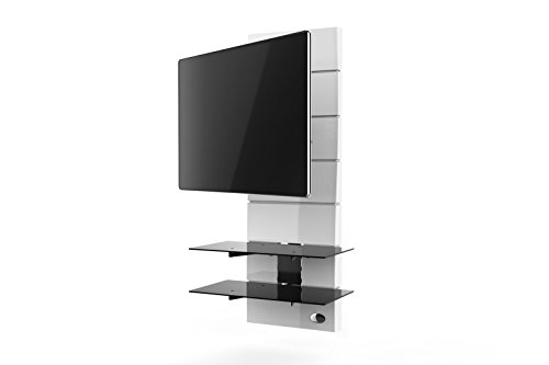 Meliconi Ghost Design 3000 - Mueble de Pared con rotación para televisores, Color Blanco