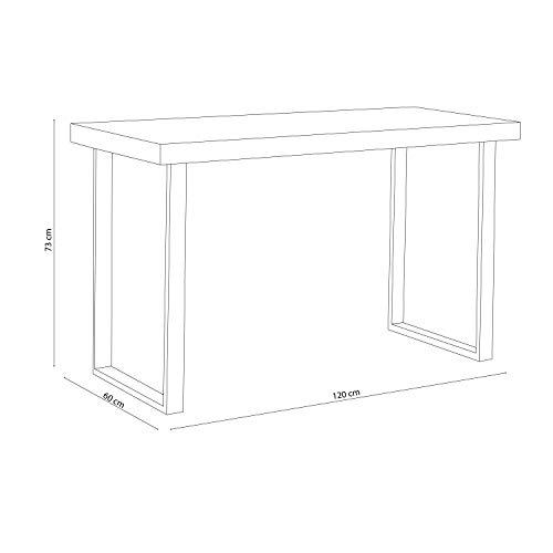 Adec - Natural, Mesa de Estudio, Escritorio o Despacho, Mesa de Oficina, Acabado en Roble Boreal y Negro, Medidas: 120 cm (Largo) x 60 cm (Ancho) x 73 cm (Alto)
