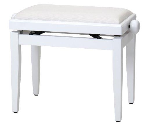 Steinmayer 27630 - Banqueta piano, color blanco mate