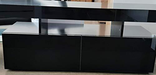 muebles bonitos – Mueble TV Modelo Unai (160x45cm) Color Negro con LED RGB