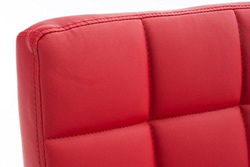 Silla De Oficina Deli V2 En Cuero Sintético   Silla Ejecutiva Giratoria & Regulable En Altura I Silla De Escritorio con Ruedas I Color:, Color:Rojo