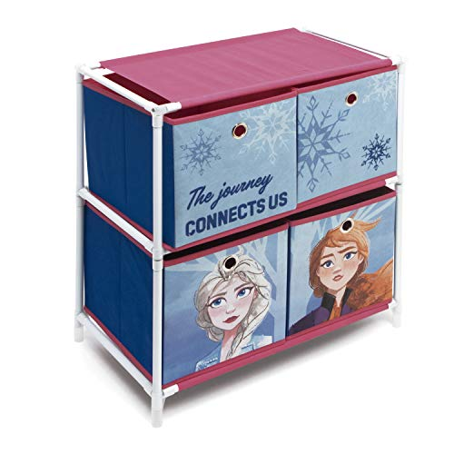ARDITEX WD12906 Estantería con 4 contenedores Textiles de 53x30x60cm de Disney-Frozen II