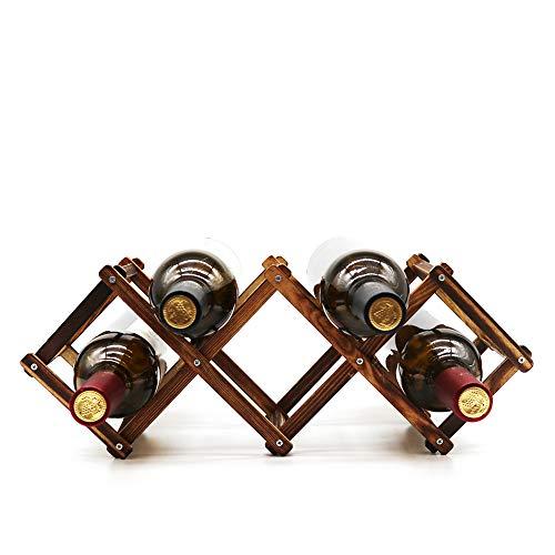 Botellero de Botellero de madera para 10 botellas, plegable, de pie, para el hogar, cocina, estante de madera, soporte de almacenamientomadera para 10 botellas, plegable, de pie, para el hogar