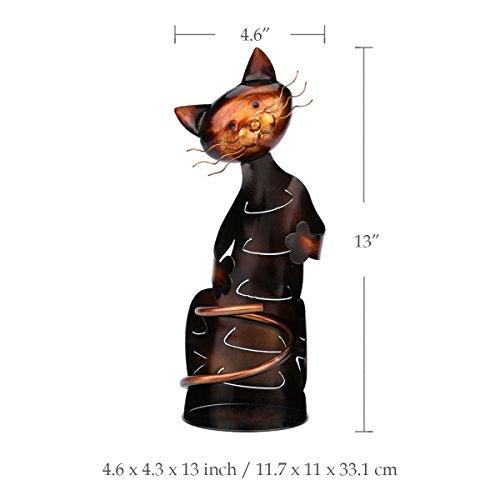 Galapara TOOARTS Soporte para Vino - Botellero Forma de Gato,Estilo Metálico para la Decoración del Hogar Bar Metal Escultura Práctico de decoración del hogar Interior Manualidades