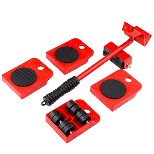 GEMITTO Juego de ruedas deslizantes para muebles pesados de, kit de rodillos para mover muebles; juego de herramientas para levantar muebles, 4 ruedas almohadillas giratorias de 360 grados