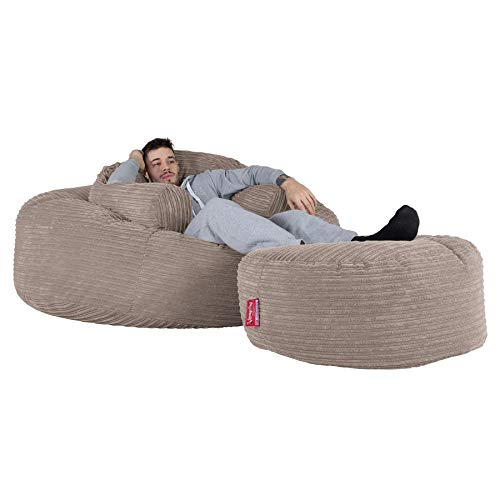 Lounge Pug®, Puff Gigante 'Mega-Mamut', Pana Clásica - Visón