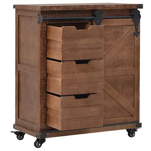 vidaXL Mueble de Almacenaje Madera Maciza Abeto 64x33.5x75cm Marrón Mobiliario