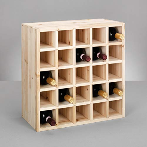 Zeller 13172 Botellero, Madera, Marrón, 52x25x52 cm