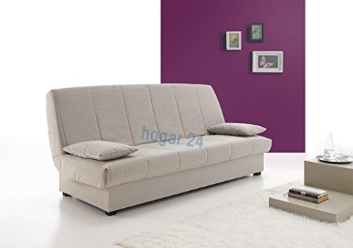 Hogar 24 - Sofa Cama Clic Clac con Arcón de Almacenaje, color Gris