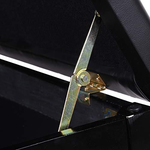 DoubleBlack Banco Piano para 2 Personas Banqueta Piano Taburete para Teclado Pies Madera Maciza con Contenedores Negro