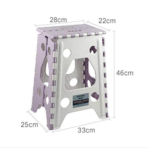 Taburete plegable - Taburete de plástico plegable portátil para niños pequeños Niños y adultos, taburete plegable de baño de jardín de cocina (2 colores, 3 tamaños)