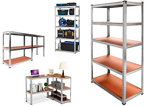 Nyana Home   Estantería Metálica Galvanizada 875kg   5 Baldas   Medidas 180 x 90 x 40cm   Garaje Oficina Despensa