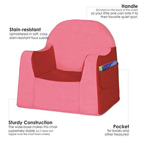 P'kolino Little Reader - Sillón liviano y cómodo para el pequeño niño lector sillita para bebes con forro de microfibra resistente, Rojo