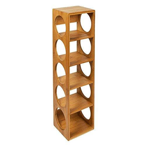 woodluv Botellero de Bambú (apilable, Soporte (montado en la Pared, de pie o Horizontal)
