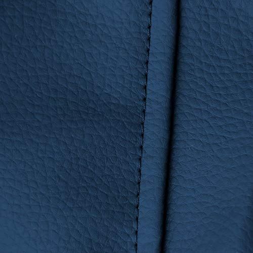 HAPPERS Puff de Pera Hand Fotos, Piél, Azul, XL (130x80x80 cm)
