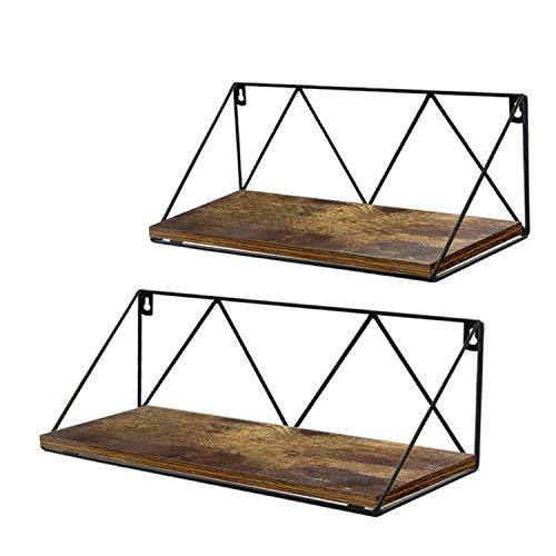 UMI. by Amazon Estantes flotantes rústicos montados en la Pared para baño, Dormitorio o Cocina, Juego de 2