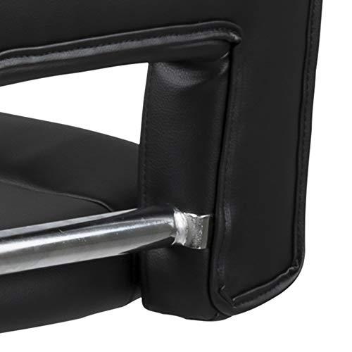 Amazon Brand - Movian Sarnen - Juego de 2 taburetes de bar, 52 x 41,5 x 115 cm, negro