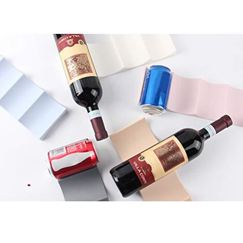 BESTONZON Estante de Vino de Estilo Europeo Estante de exhibición de Botellas de Agua de plástico Organizador de Almacenamiento de Soportes de Vino para encimeras de Cocina Despensa Frigorífico