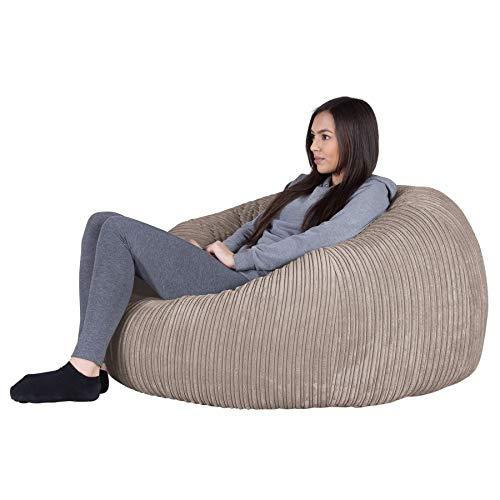Lounge Pug®, Puff GiganteSofá Clásica, Pana Clásica - Visón