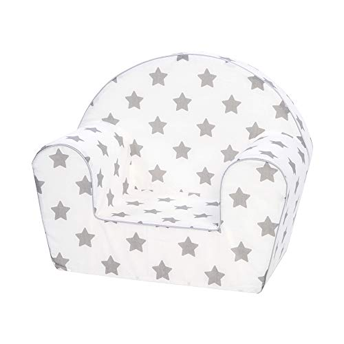 KNORRTOYS.COM Knorrtoys 68344-Kindersessel-Stars Grey Sillón Infantil, Gris Estrellas