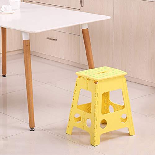 Taburete Plegable Cocina Plastico Banco Banqueta 45 cm Alto para Bano Ducha Jardin Giallo